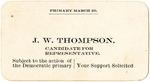 Campaign card, J.W. Thompson