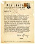 Letter, Ben Laney for Governor campaign