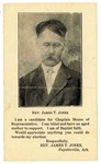 Campaign card, Rev. James T. Jones