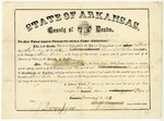 Desha County election certificate, Burrell Walker