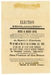 Election proclamation, Prairie County
