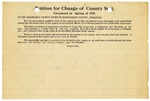 Notice of petition for change of county seat, Montgomery County