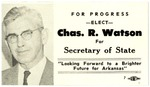 Campaign card, Charles R. Watson