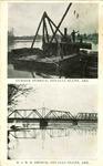 Lumber Derrick and R.I.R.R. Bridge, Devalls Bluff, Ark.