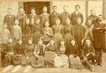 Class portrait of 8th and 9th grades, Lonoke school, 1893