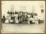 Schoolhouse and students in Snowball, Arkansas, 1910s