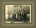Girls' school class, 1890s
