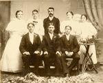 Portrait of Lonoke High School 1896 graduating class