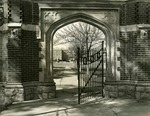 Arched gate leading to St. John's Seminary in Little Rock, 1930s-40s