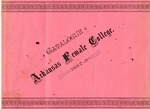 Arkansas Female College catalog, 1887