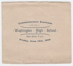 Commencement program, Washington High School 1889