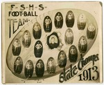 Composite photograph of the 1913 Fort Smith High School football team