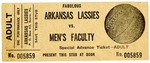 Ticket, Arkansas Lassies vs. men's faculty basketball game