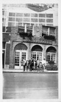 Guy Family in front of Guy Funeral Home in Gary, Indiana