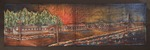 Pastel Drawing on Denim of Rohwer Japanese American relocation camp