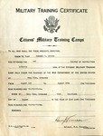 Russell M. Brooks Citizens' Military Training Camps certificate