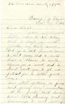 Letter, Benjamin Clark, Camp Taylor, KY to Flora Hamilton