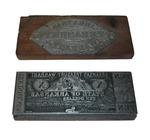 Arkansas Treasury Warrants printing plates