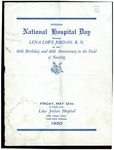 Program, National Hospital Day - Lena Lowe Jordan