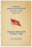 Program, Arkansas Democratic Women's Club convention