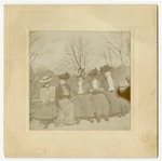 Ladies on a park bench