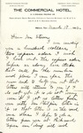 Letter, Carry (Carrie) Nation to