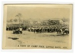 Nine miniature photographs of Camp Pike, Little Rock, Arkansas, circa 1917