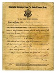 U.S. Army Honorable Discharge for Nathaniel Buttler