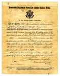 U.S. Army Honorable Discharge for Marcheal Thomas