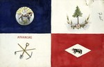 State Seal, Pine Tree, Tools, and Bear Flag design