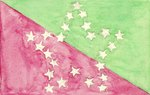 Red and Green White Stars Flag