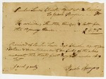 1819 December 21, 1819 December 31, and 1820 January 1: Reuben Lewis, Cherokee Indian Agent to Jacob Smyers, Receipts for goods purchased