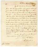 1820 April 27: Governor William Clark, Saint Louis, [Missouri], to Governor James Miller, Quapaw Indian affairs