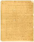 1820 November 21: Richard Searcy, White River, Arkansas, to Governor James Miller, Cherokee Indian affairs