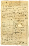 1820 November 16: Citizens of Current River Township to Governor James Miller, Petition for appointment of W. John Shoemaker as Justice of the Peace