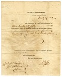 1821 January 19: William Lee, United States Treasury Department, to Governor James Miller, Expenses of Cherokee and Quapaw Agency