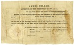 1821 January 18: Governor James Miller to Jacob Miller, Appointment as sheriff of Crawford County