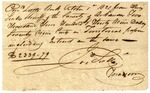 1821 July 17: James Scull, Territorial Treasurer, To Alexander S. Walker, Sheriff of Hempstead County, Receipt