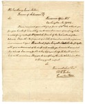 1822 November 22: Thomas T. Tucker, Treasurer's Office, to Governor James Miller, Concerning payment of treasury warrant
