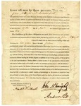 1822 November 27: James Miller to John McKnight and Andrew Scott, License to trade with the Indian nations