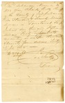 1822 November 30: James Scull, Territorial Treasurer, to Charles Kelley, Sheriff of Independence County, Receipt