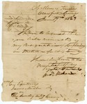 1823 June 17: Andrew Buchanan, Crawford County, to Governor James Miller, Resignation as Captain of an Arkansas militia company