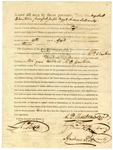 1823 April 11: Governor James Miller to Augustus P. Chouteau, principal, Joseph Bogy, and Andrew Scott, License to trade with Indian tribes