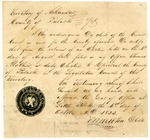 1823 October 4: T. W. Newton, Clerk, Pulaski County, to Legislative Council, Certificate of election of Thomas Mathers, Representative
