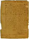 1823 May 1: Henry W. Conway, Little Rock, to Governor James Miller, Concerning a company of light horsemen in Hempstead County requiring arms