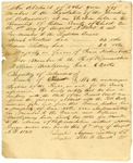 1825 August 5: Andrew Sutting and Peter H. Bennett, Chicot County, to the General Assembly, Abstract of election returns