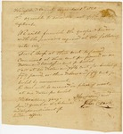 1825 November 8: A. Hanscom and John Clark, Hempstead County, to Governor George Izard, Account of goods for Quapaw Indians