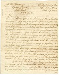 1825 October 27: Thomas L. McKenney, War Department to Governor George Izard, Removal of Cherokee Indians