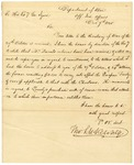 1825 December 7 and 1825 December 15: Thomas L. McKenney, Department of War, to Governor George Izard, Concerning memorial of Territorial Legislature on Indian Affairs