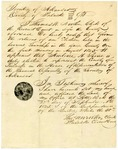 1825 September 27: Thomas W. Newton, Clerk of Circuit Court, Pulaski County, to the General Assembly, Certificate of election of Ambrose H. Sevier, to the Territorial Legislature